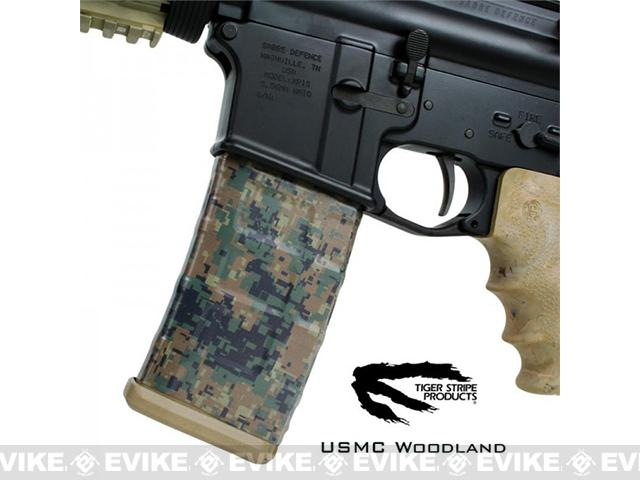 US NightVision Mag Wraps™ Rapid Wraps - Tiger Stripe: Woodland