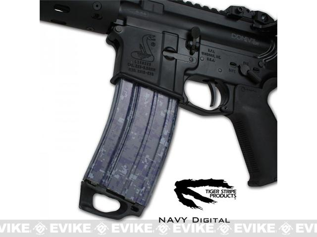 US NightVision Mag Wraps™ Rapid Wraps - Tiger Stripe: Navy
