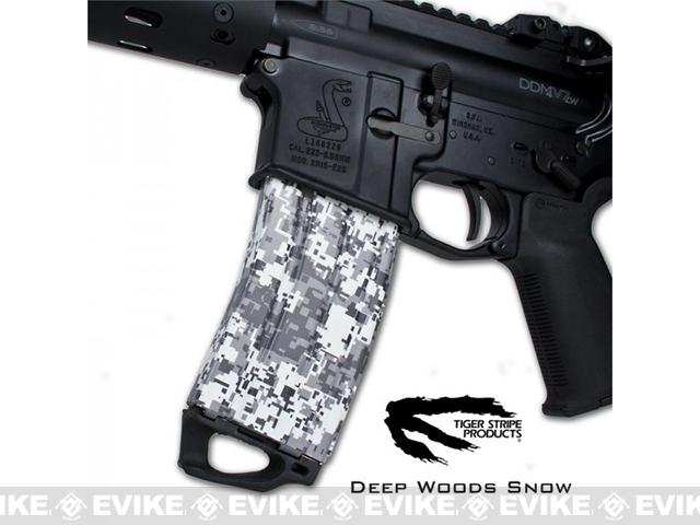 US NightVision Mag Wraps™ Rapid Wraps - Tiger Stripe: Deep Woods Snow