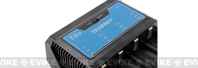 Tenergy T4s Intelligent Battery Charger for Li-Ion / LiFe PO4 / NiMH / NiCd Batteries
