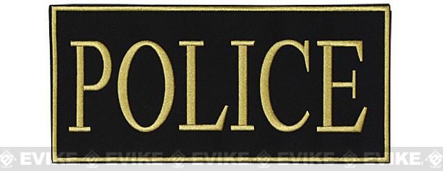 z Voodoo Tactical Police Embroidered Hook and Loop Morale Patch - Gold (Large)