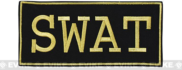 Voodoo Tactical SWAT Embroidered Hook and Loop Patch - Gold (Large)