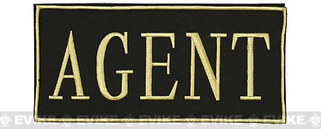 Voodoo Tactical Agent Embroidered Hook and Loop Morale Patch - Gold (Large)
