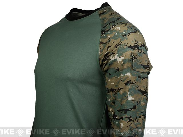 Cast Gear Tactical Combat T-Shirt - Digital Woodland (Size: Large)