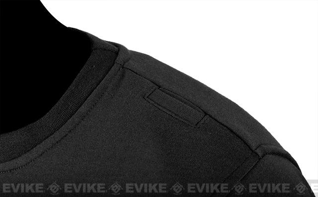 CAST Gear Evike.com Exclusive Tactical Pullover Crew Neck Sweatshirt - Black (Size: Small)