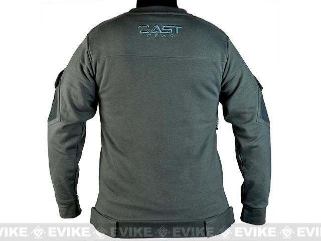 CAST Gear Evike.com Exclusive Tactical Pullover Crew Neck Sweatshirt - Grey (Size: Medium)