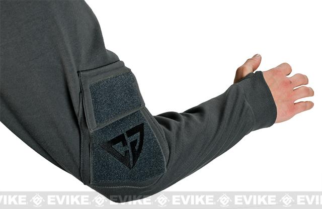 CAST Gear Evike.com Exclusive Tactical Pullover Crew Neck Sweatshirt - Grey (Size: Small)