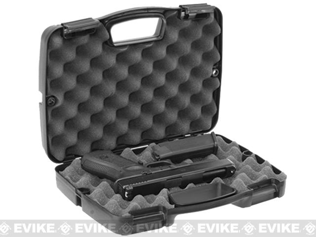 Plano SE Series™ Single Pistol and Accessory Clam Shell Padded Case - Black