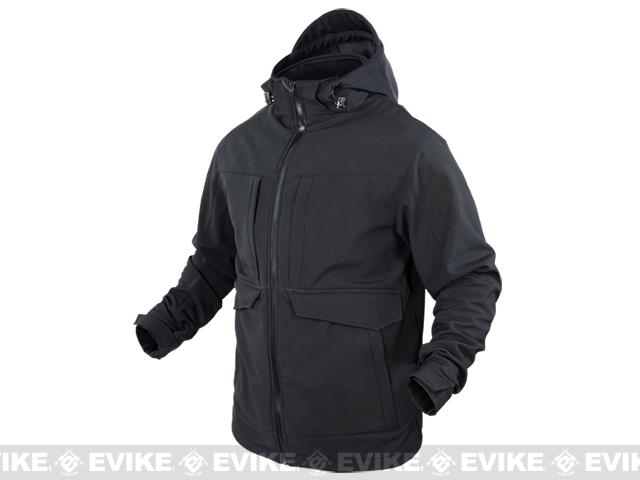 Condor Outdoor Softshell Cold Weather Parka - Black (Size: Medium)