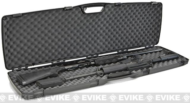 Plano SE Series™ Double Rifle / Shotgun and Accessory Clam Shell Padded Case - Black