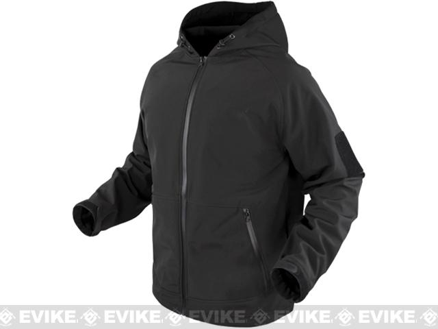 Condor Prime Softshell Hoody Jacket - Black (Size: Small)