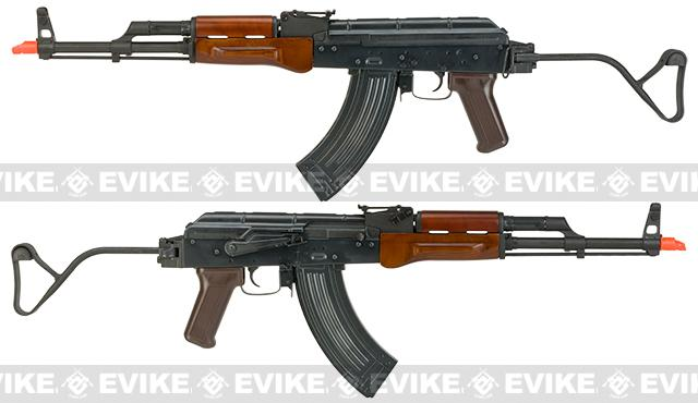 Spartan Delta Series AIR MOD A Full Metal AKM Airsoft AEG with Real Wood Furniture and Folding Stock