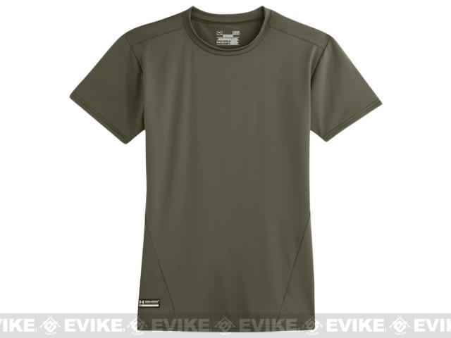 Under Armour Men's Tactical Heatgear� Compression Short Sleeve T-Shirt - Marine OD Green (Large)