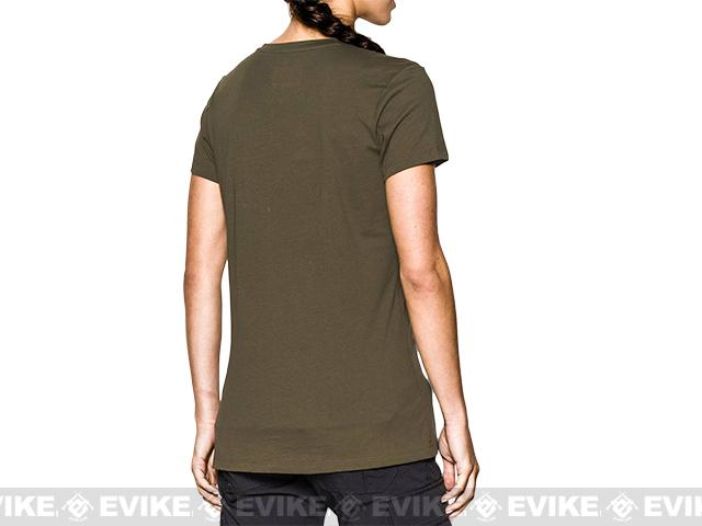 Under Armour Women's UA Tactical Charged Cotton® T-Shirt - OD Green (Size: Small)