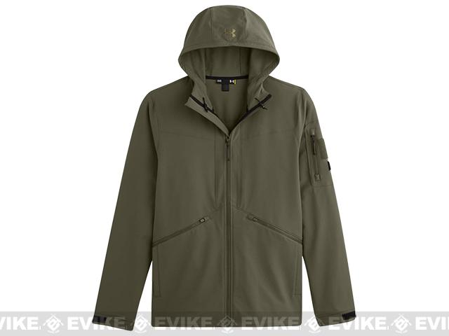 Under Armour Men's UA Storm Tactical Woven Jacket - Marine OD Green (Size: Small)