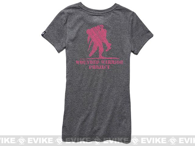 z Under Armour Women's UA WWP Believe In Heroes T-Shirt - Carbon Heather (Size: Large)