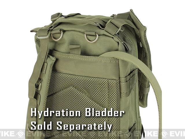 Condor Medium Assault Pack w/ Hydration Compartment (Color: Black)