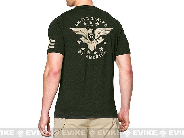 Under Armour Men's UA Freedom Eagle T-Shirt - Green (Size: Medium)