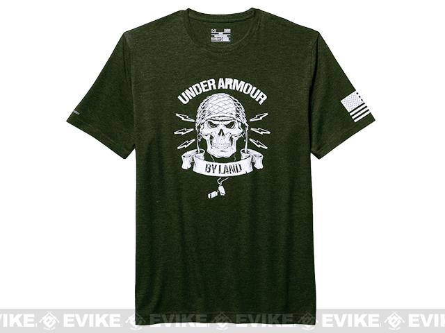 Under Armour Men's UA Freedom Army T-Shirt - Green (Size: Small)