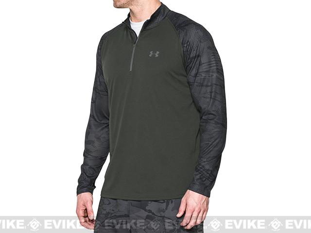 Under Armour UA Freedom Tech 1/4 Zip Long Sleeve Shirt - Combat Green (Size: Medium)