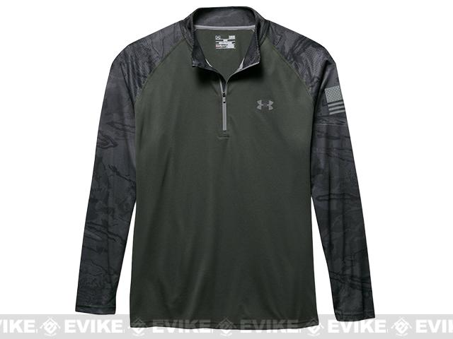 Under Armour UA Freedom Tech 1/4 Zip Long Sleeve Shirt - Combat Green (Size: Large)