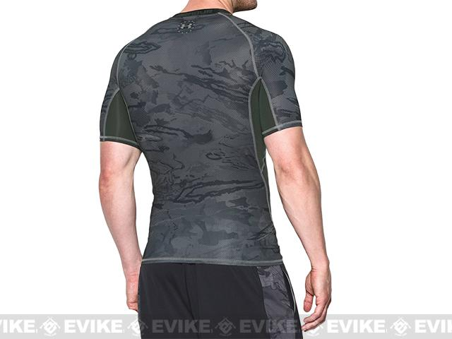 Under Armour Men's Tactical Heatgear� Freedom Compression Short Sleeve T-Shirt - Combat Green (Size: Small)