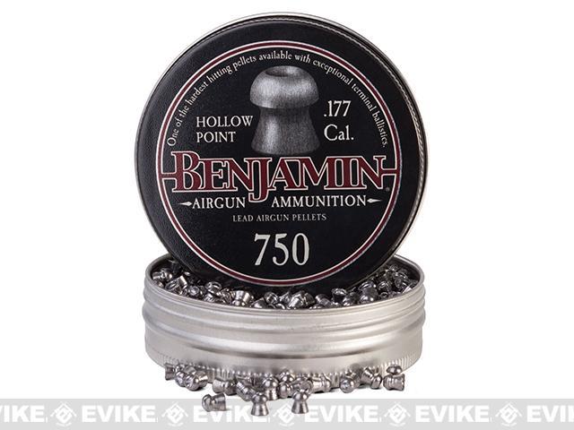 Benjamin .177 Cal. Hollow Point Pellets - 7.9 Grain - 750 Count