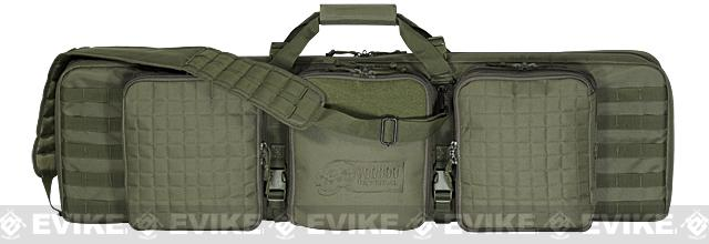 Voodoo Tactical 42 Lockable MOLLE Padded Weapons Case / Gun Bag - OD Green