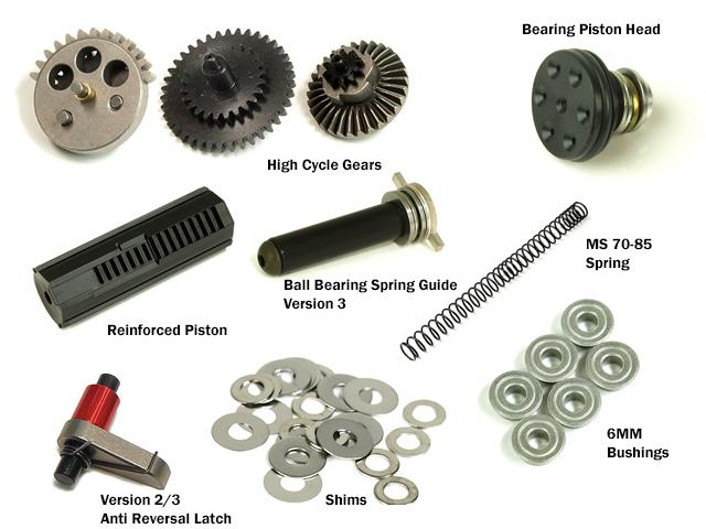 z Prometheus High Cycle Custom Full Tune-up Kit for Airsoft AEG Gearboxes - Ver 3