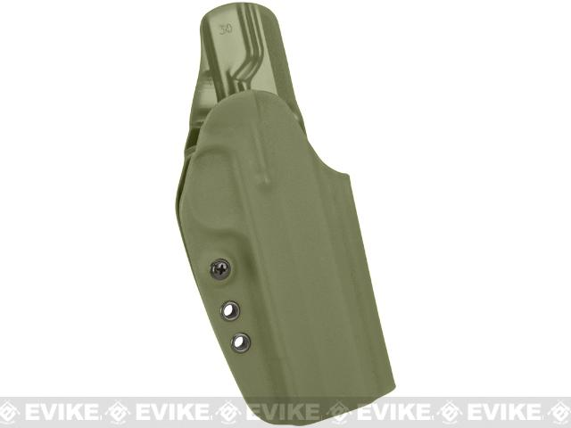 G-Code OSH-RTI Kydex Holster - 1911 5 Barrel w/ Rail (Right / OD Green)