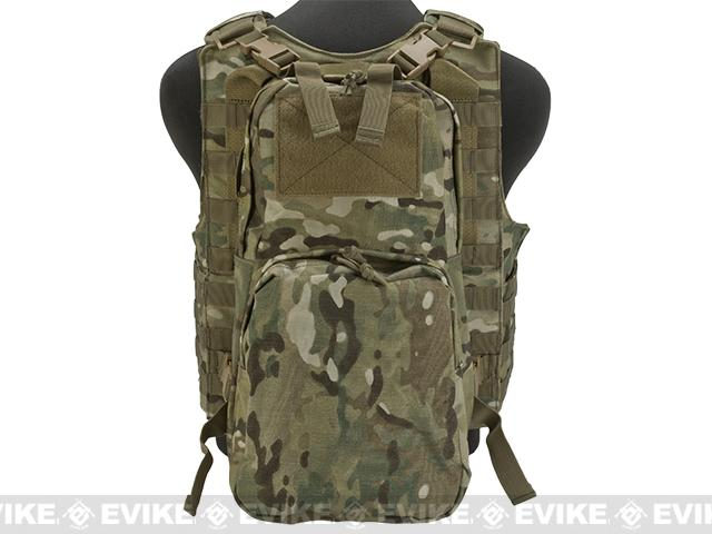 Voodoo Tactical MOLLE Hayden Plate Carrier for Soft or Hard Armor w/ Cummerbund & Hydration Carrier- Multicam