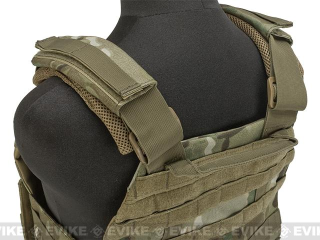 Voodoo Tactical MOLLE X-Lite Gen II Plate Carrier with MOLLE Cummerbund - Multicam (Large)