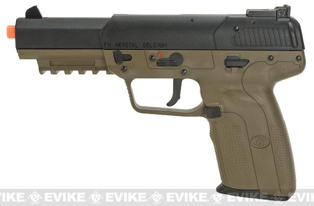 FN Herstal Five-seveN FN-57 Airsoft CO2 Gas Blowback Pistol by Marushin- Dark Earth