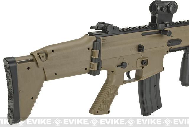 Cybergun SCAR-L Licensed Spring Powered Airsoft Rifle - Tan