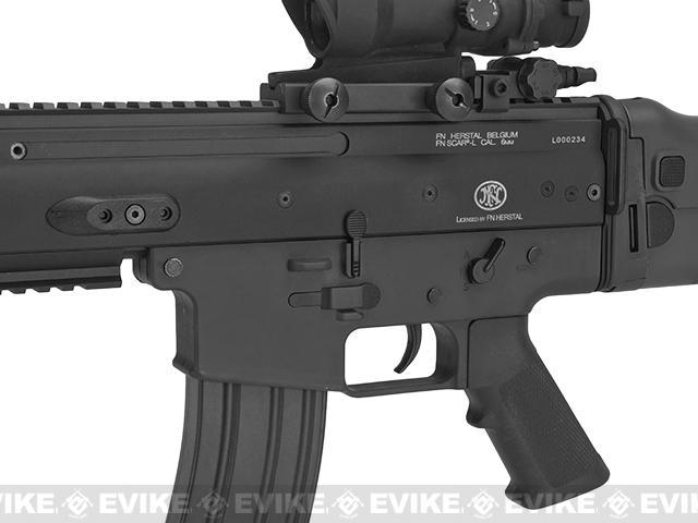 FN Herstal Licensed SCAR-L Airsoft AEG Rifle by Softair/Cybergun - Black
