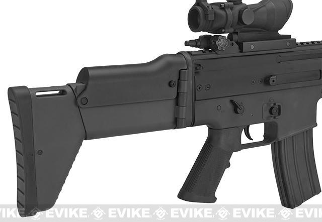 z FN Herstal Licensed SCAR-L Airsoft AEG Rifle by Softair/Cybergun - Black