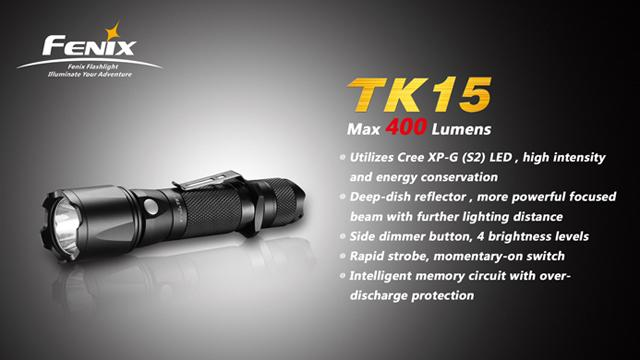 Fenix TK15 CREE XP-G S2 LED Flashlight (400 Lumen)