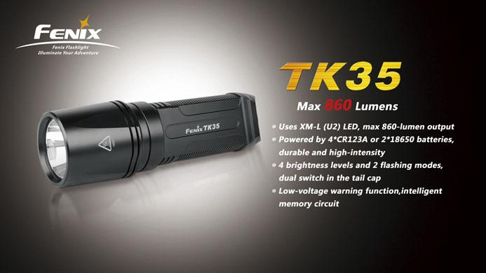 Fenix TK35 CREE XM-L U2 LED Flashlight (860 Lumen)