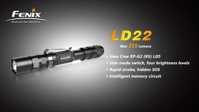 Fenix LD22 CREE XP-G2 LED Flashlight (215 Lumen)