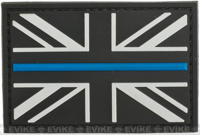United Kingdom Thin Blue Line PVC Morale Patch - Subdued
