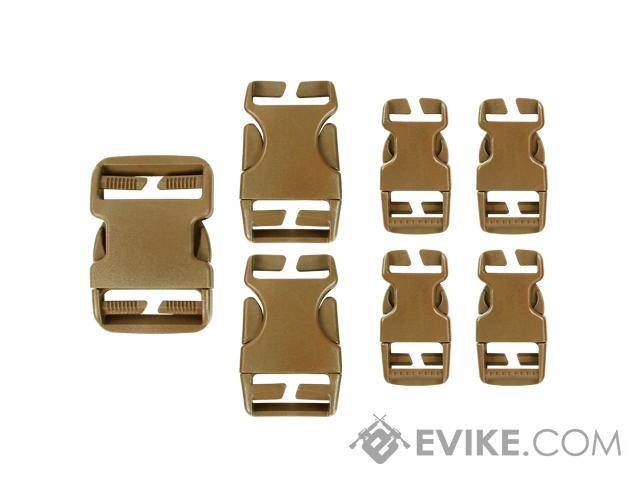 Condor Replacement Buckle Set for Vests / Plate Carriers / Harnesses / Belts - Coyote Brown