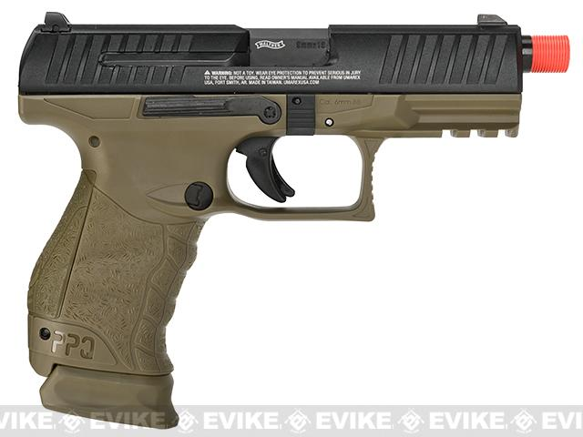 Walther PPQ GBB Tac SD Navy Airsoft GBB Pistol by Umarex Elite Force - Desert Two Tone