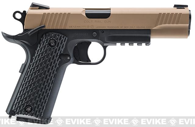 Umarex Colt M45 CQBP .177 CO2 Powered Blowback Air Pistol - Tan (.177 Cal AIRGUN NOT AIRSOFT)