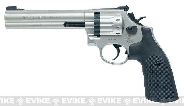 z Umarex Smith and Wesson 586CO2 Powered BB Revolver with 6 Barrel - Nickel (4.5mm AIRGUN NOT AIRSOFT)