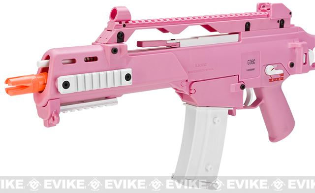 (Breast Cancer Awareness Month $10 Donation) H&K G36C Pink Limited Edition Full Size Metal Gearbox Airsoft AEG