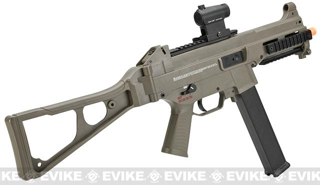 H&K Evike Exclusive Desert Storm Edition UMP Airsoft AEG Rifle with metal gearbox by Umarex
