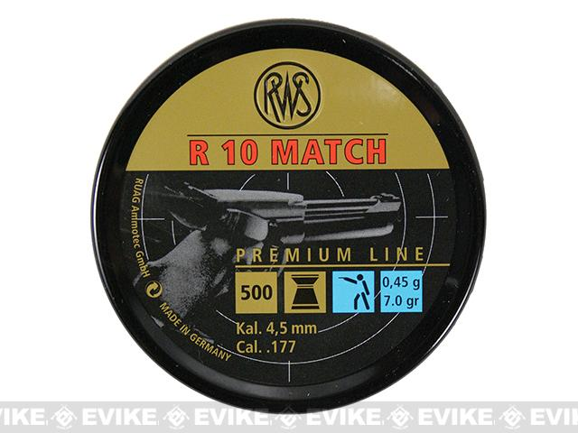RWS R10 Match  Premium .177 cal. High Velocity 7 Grain Wadcutter Pellets - 500 count