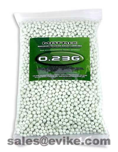 Matrix 0.23g Match Grade 6mm Airsoft BB - 5000/ White