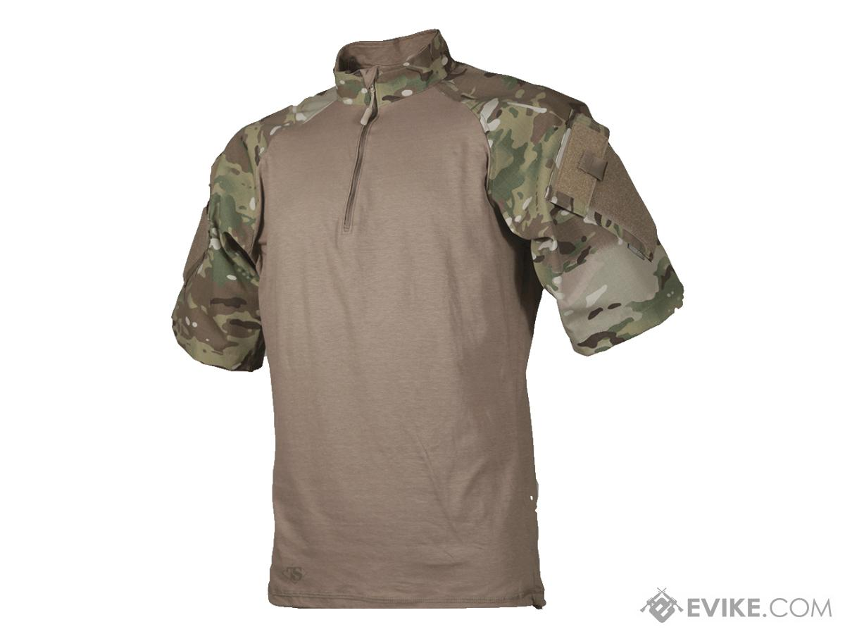 Tru-Spec Short-Sleeve Tactical Response Uniform 1/4 Zip Combat Shirt - Multicam (Size: Large)