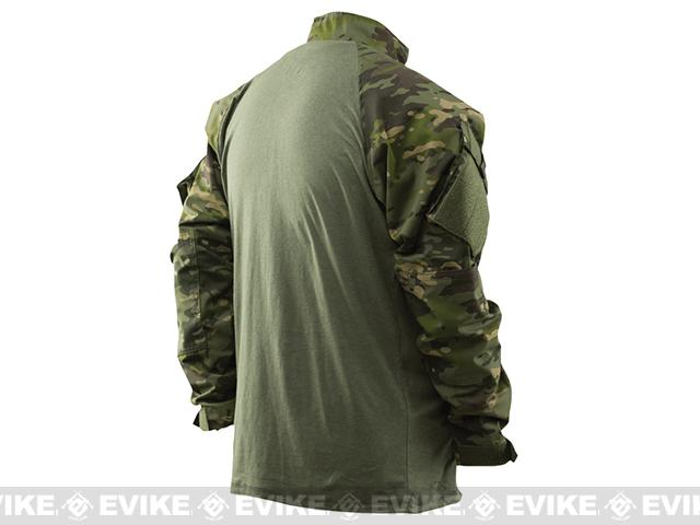 Tru-Spec Tactical Response Uniform 1/4 Zip Combat Shirt - Multicam Tropic (Size: Medium)